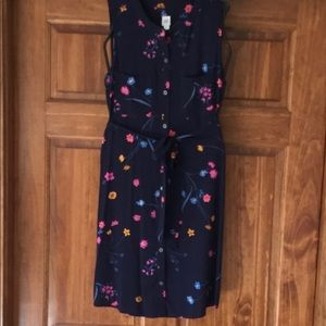 Navy floral Gap dress